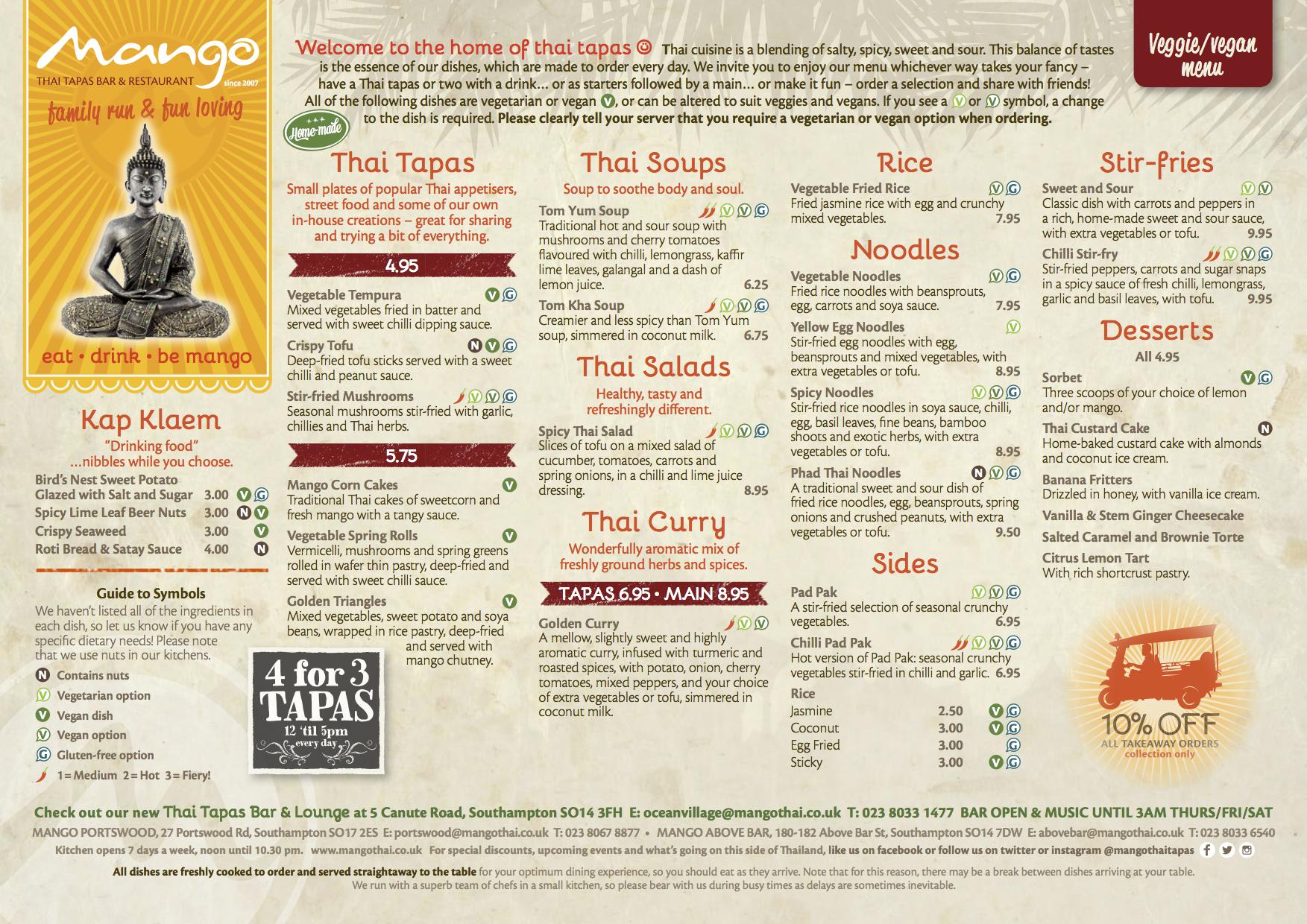 Mango Thai Tapas Vegan Southampton